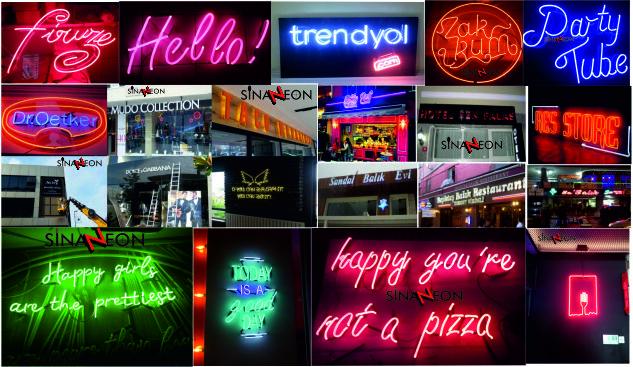 Toplu Neon Tabela Örnekleri - Neon Yazı Örnekleri