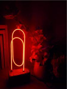 gece lambası cam neon