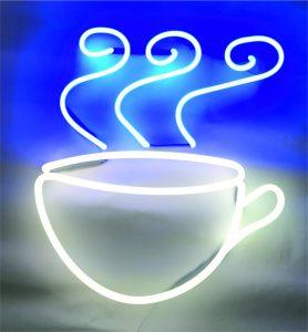 Coffee Fincan Görseli Neon Tabela