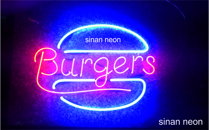burger tabelası neon uygulaması