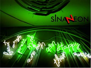 neon dekor yazı