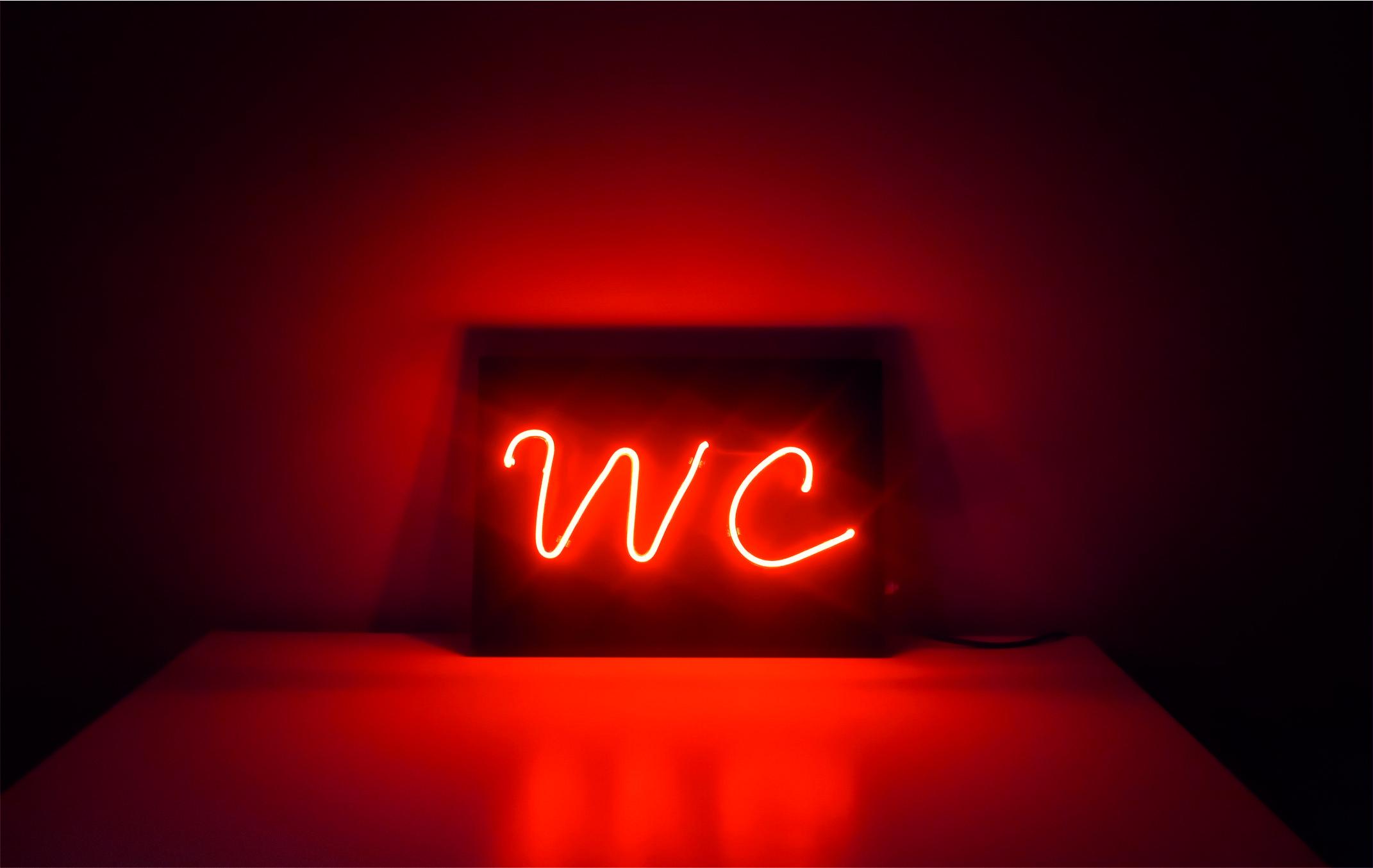Cam Neon WC, neon tabela wc, wc neon tabela