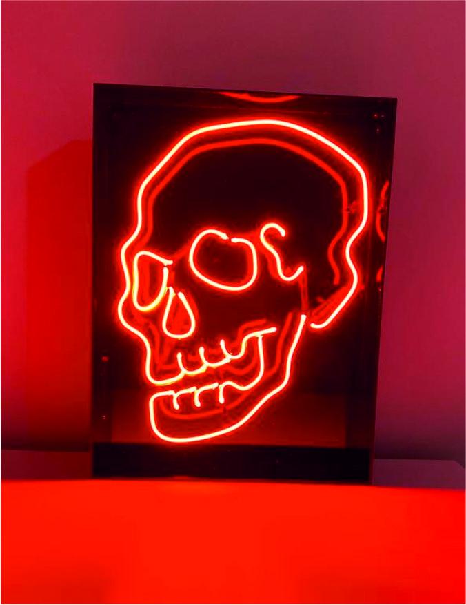 Neon Kuru Kafa, kuru kafa tası neon, neon kuru kafa görseli