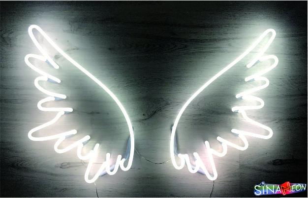 melek kanadı cam neon