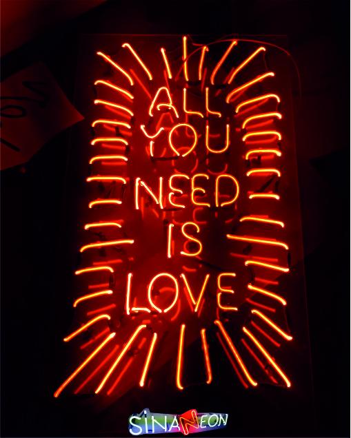 all you need is love neon - neon tabela imalatında