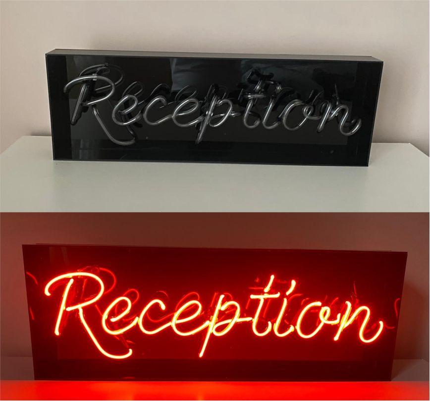 reception neon lighting - cam neon reception