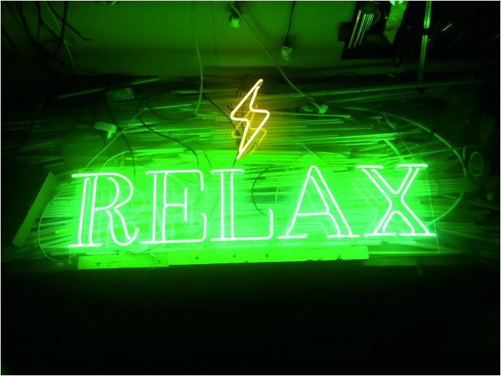 relax hazır neon tabelası