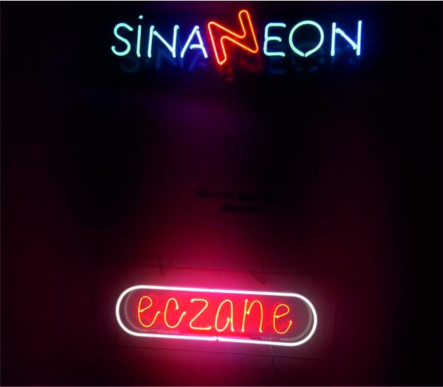 Hazır Eczane Neon Tabela